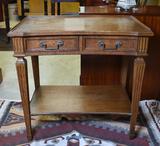 Elegant Auffray & Co., 3rd Ave NYC Fine French Walnut Side Table