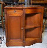Unique Vintage Side Curio Cabinet with Speaker Grill on Side