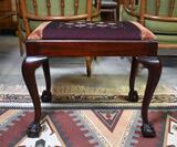John Stuart Inc. Ottoman with Embroidery Seat, Ball & Claw Feet