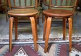 Pair of Thonet Bentwood Eames Era Mid-Century Danish Modern Stools