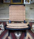 Vintage Mid-Century Modern Hans Wegner Style Danish Cord Woven Folding Lounge Chair