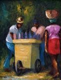 A. Rabbi, Ethnic Genre, Oil on Canvas, Signed Lower Left