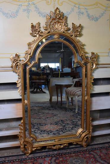 Elegant Louis XIV Style Mirror