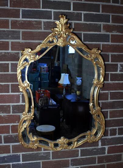 Beautiful Gilded Baroque Over Dresser Mirror