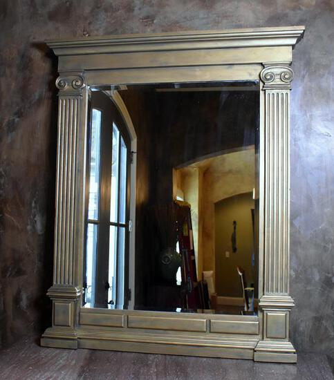 Excellent Giltwood Neoclassical Mirror, Beveled Glass