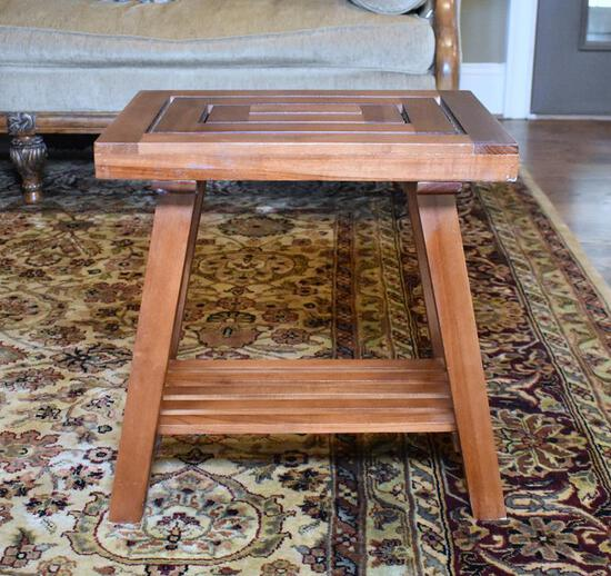 Craftsman Style Wooden Side Table