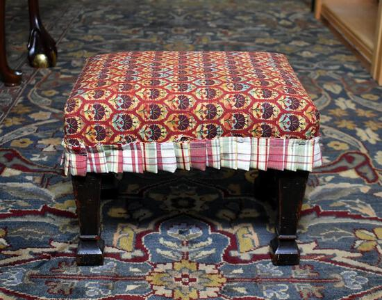 Upholstered Top Footstool