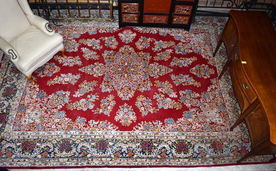 Beautiful Large Persian Style Handknotted Wool Rug