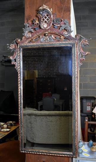 Elegant Rococo Style Beveled Glass Wall Mirror, by Vero Legno, Italy