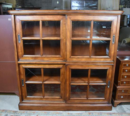 """""""The Ellis Line"""" by Sligh Executive Fruitwood Book Case"""