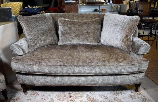 """Contemporary Neutral Green-Gray """"LT Designs"""" by Century Furniture Sofa"""