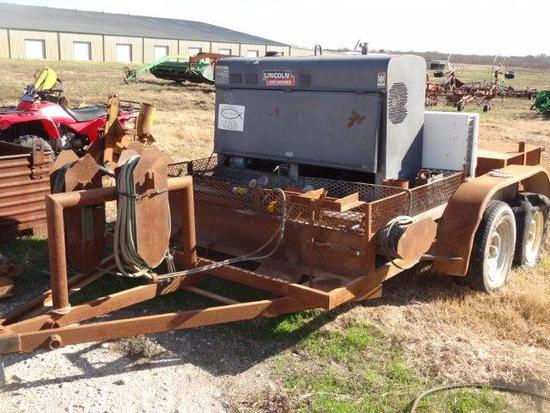 Bumper-Pull Shop-Built Tandem Axle Trailer with Lincoln Classic II SA 250 Welder