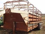 Shop-Built Gooseneck 6' x 20' Livestock Trailer