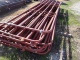 9 - (Red) 16ft Livestock Panels and 1 - 13'6