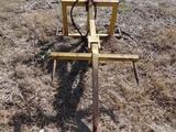 3pt Yellow Hydraulic Bale Spear