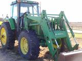 John Deere 7800 Cab & Air Tractor, MFWD