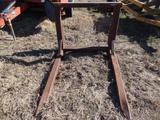 Heavy Duty Hay Fork For Loader (Pin On)