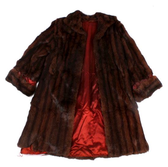 Vintage Silk Lined Minks Fur Coat
