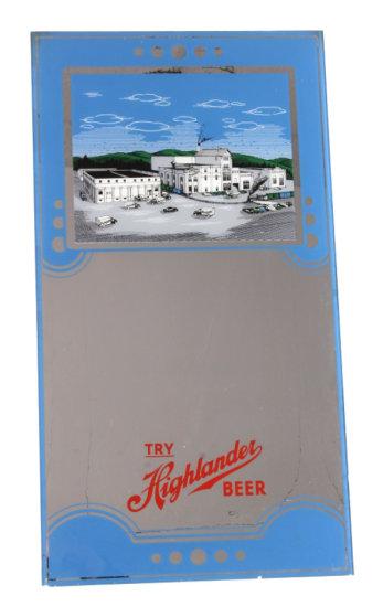 RARE Highlander Beer Advertising Mirror Montana