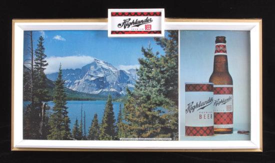 Highlander Beer Glacier Park Lighted Sign