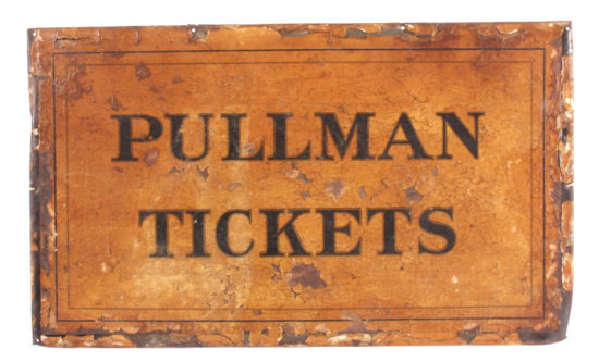 Original Antique Pullman Tickets Sign