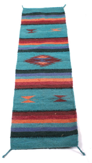 Navajo Turquoise Crystal Pattern Rug