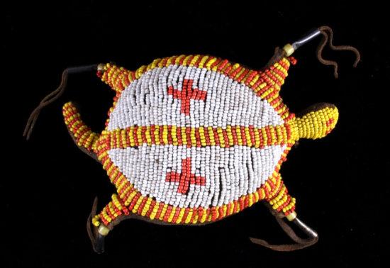 Sioux Beaded Tortoise Fetish