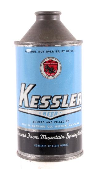 Kessler Brewing Cone Top Beer Can Helena Montana