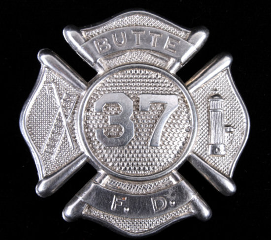 Early Butte Montana Fire Department Badge