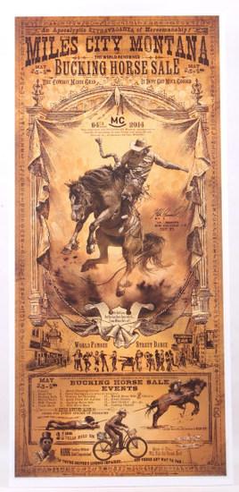 Miles City Bucking Horse Sale Poster Bob Coronato