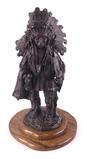 Blackfoot Chief Gary Schildt Bronze Sculpture