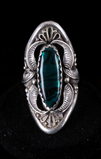 Navajo Signed Abalone & Sterling Silver Ring