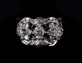 Pre-1920 Art Deco Diamond White & Yellow Gold Ring