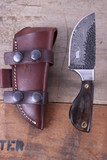 Montana Territory Knives Hammered Damascus Knife
