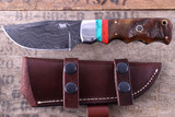 Montana Territory Knives Wave Damascus & Turquoise