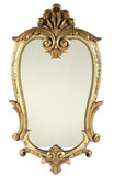 Antique Hand Painted Victorian Style Mirror