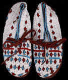 Lakota Sioux Fully Beaded Moccasins 1900-1950