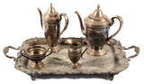 Gorham Monogrammed Silver Tea and Coffee Set
