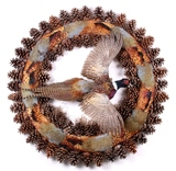 South Dakota Flying Pheasant Wreath Mount