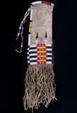 Cheyenne Beaded Buffalo Hide Pipe Bag c. 1890
