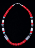 Navajo T&R Singer Discodial Branch Coral Necklace