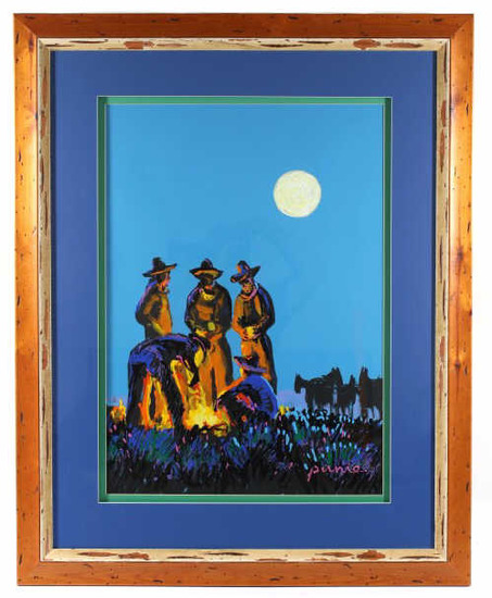 1970's Original Larry Pirnie Acrylic on Canvas