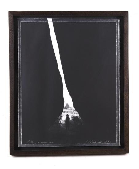 "Mark Klett ""Entering a Narrow Cave"" Photograph"