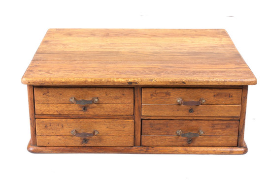 Quarter Sawn Oak Library Card Filing Cabinet