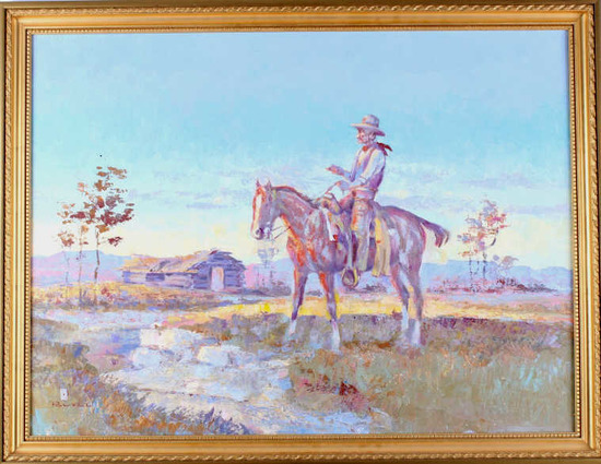 Ace Powell (Montana 1912-1978) Original Oil Rider