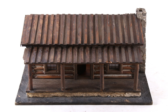 Charles Russell Log House Art Studio Model
