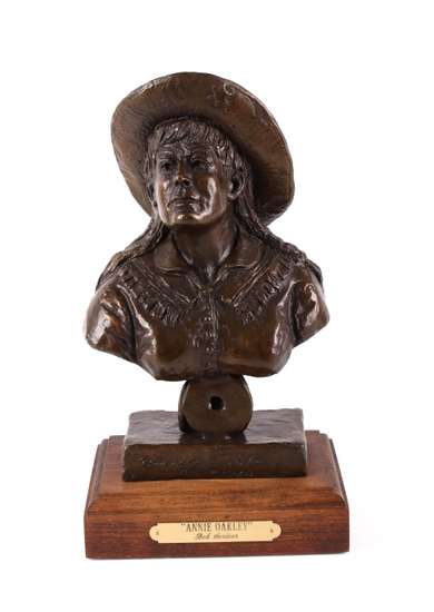 Original Bob Scriver Annie Oakley Bronze Sculpture