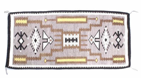 Navajo Teec Nos Pos Trading Post Rug Mid-20th