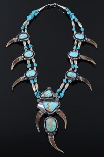 Navajo Badger Claw & Cerrillos Turquoise Squash