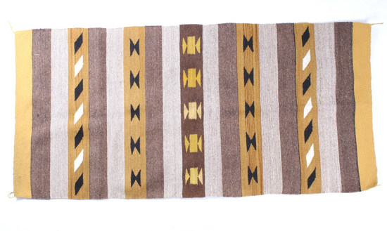 Navajo Chinle Banded Trading Post Rug c. 1940's